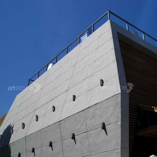 panel cladding / concrete / textured / concrete look