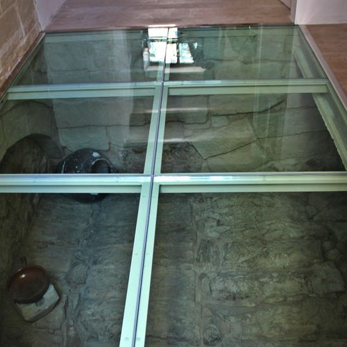 glass deck slab