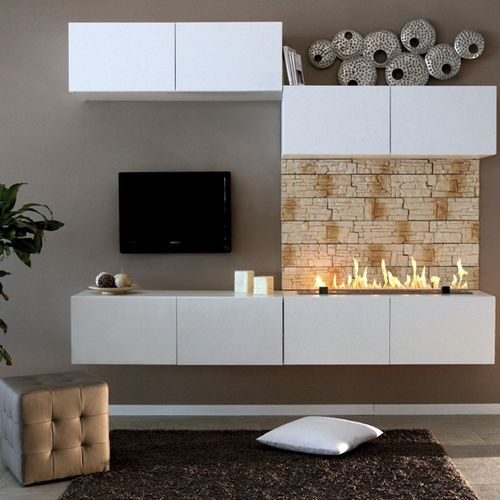 open bioethanol hearth / 1-sided / metal / for fireplaces