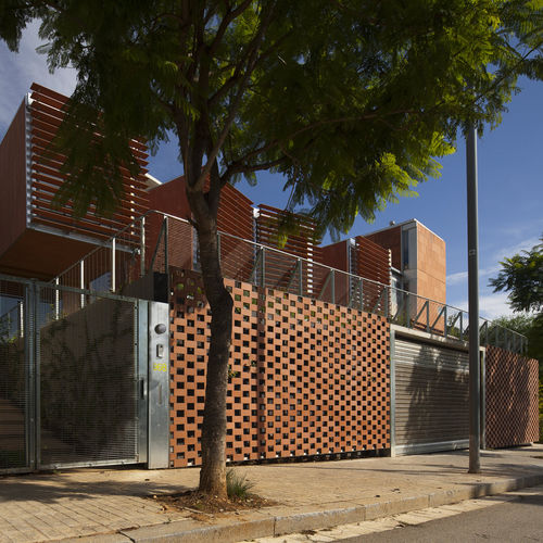 stainless steel cladding / ceramic / perforated / panel