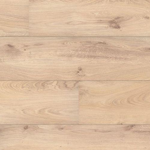 HDF wide laminate flooring / clip-on / wood look / home