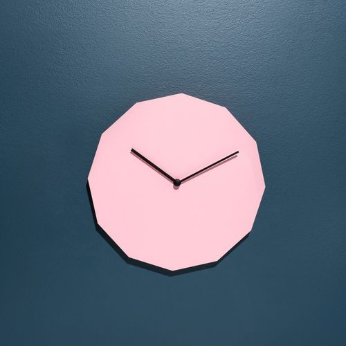 contemporary clock / analog / wall-mounted / steel