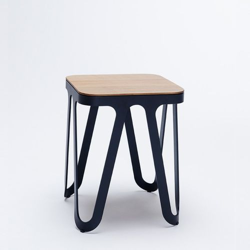 contemporary stool / oak / solid wood / ash