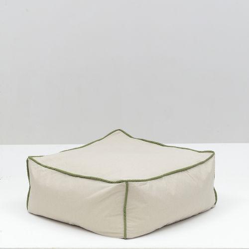 contemporary pouf / Sunbrella® / square / outdoor