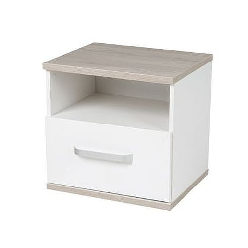 contemporary bedside table / melamine / rectangular / with drawer