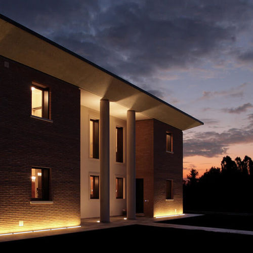 recessed floor light fixture / LED / linear / outdoor