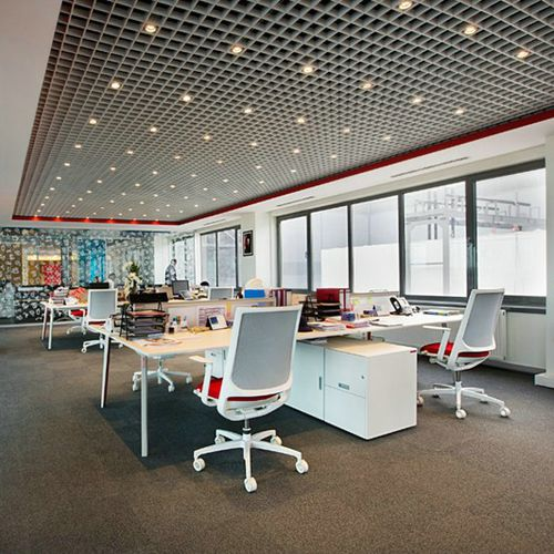 aluminum suspended ceiling / panel / acoustic / wire
