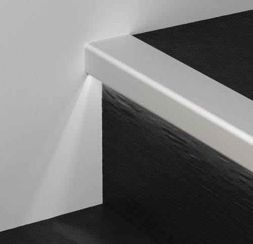 aluminum stair nosing / with LED profile