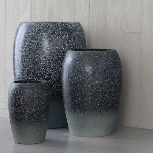 contemporary vase / clay / handmade