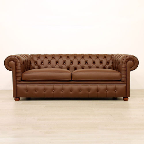 Chesterfield sofa / fabric / leather / for public buildings
