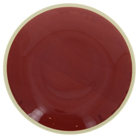 flat plate / round / porcelain / commercial