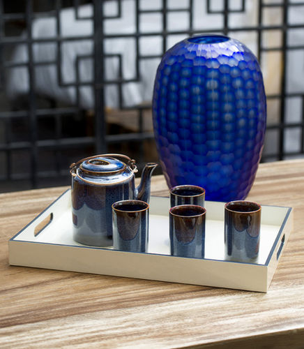 lacquered wood serving tray