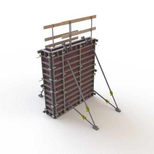 modular formwork / frame / aluminum / plywood