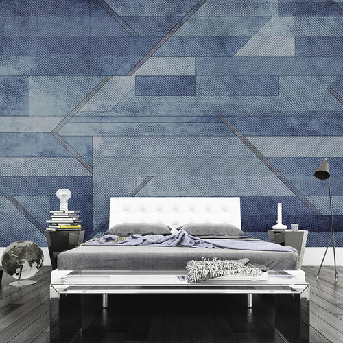 contemporary wallpaper / fabric / vinyl / geometric
