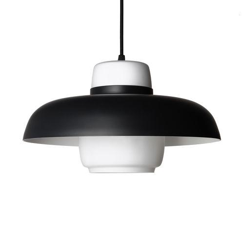 pendant lamp / contemporary / aluminum / blown glass