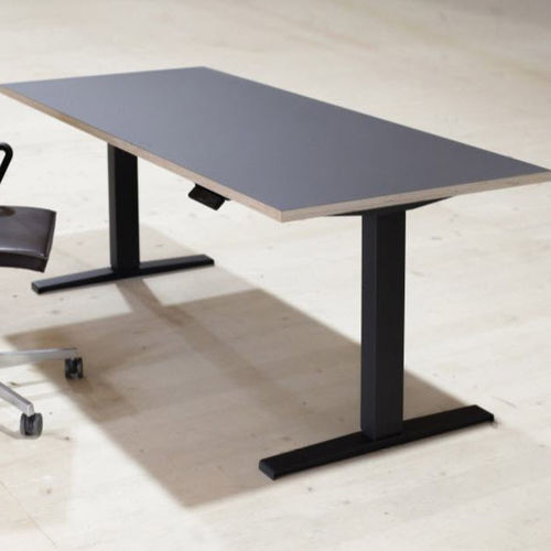 contemporary work table / wooden / linoleum / rectangular