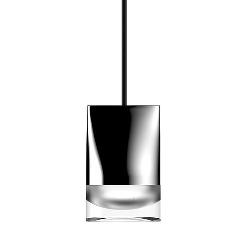 hanging light fixture / LED / round / glass