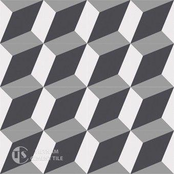 3D encaustic cement tile