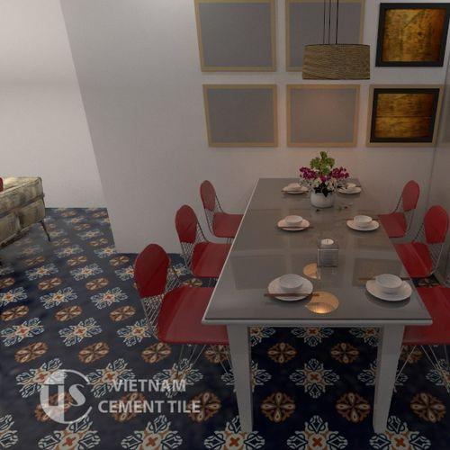 indoor encaustic cement tile / floor / wall / 20x20 cm