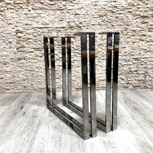 stainless steel table base / contemporary / double
