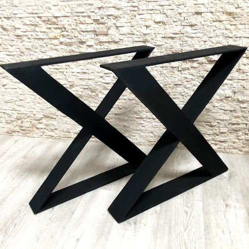 iron table base / contemporary / double / for restaurants