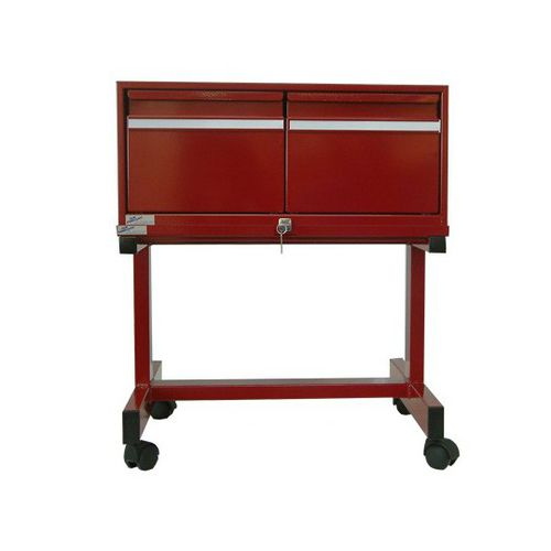 steel office unit / 2-drawer / on casters