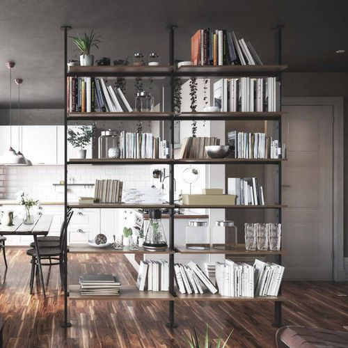 self-supporting shelving system / contemporary / aluminum / home