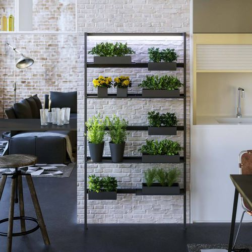 wall-mounted shelf / contemporary / aluminum / living room