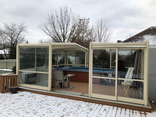 glass spa enclosure