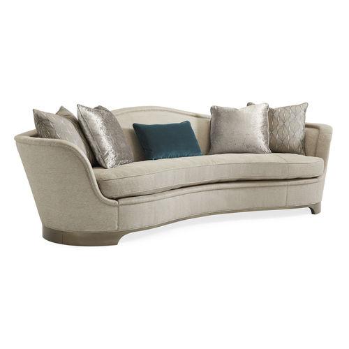 semicircular sofa / Art Deco / fabric / cushion