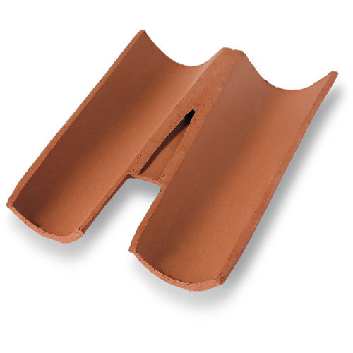 Roman roof tile / clay / double
