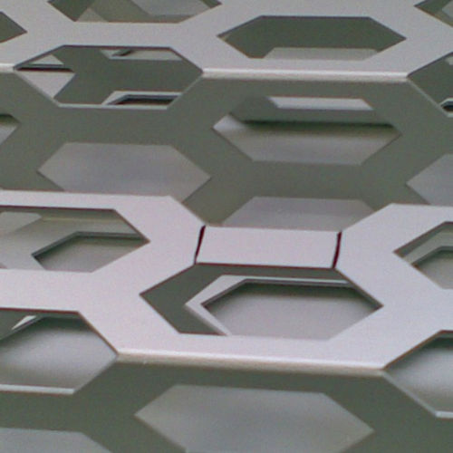 perforated metal sheet / aluminum / for facade cladding / special