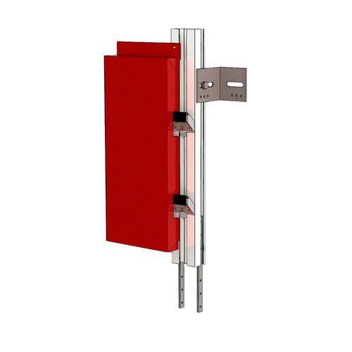 steel fastening system / aluminum / for facade cladding / exterior