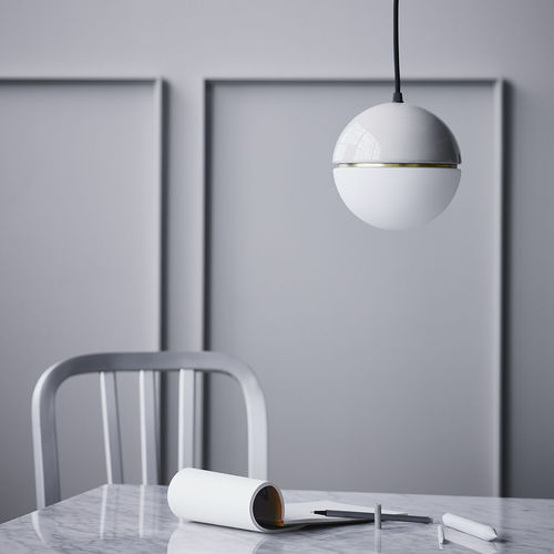 pendant lamp / contemporary / opalescent glass / ceramic