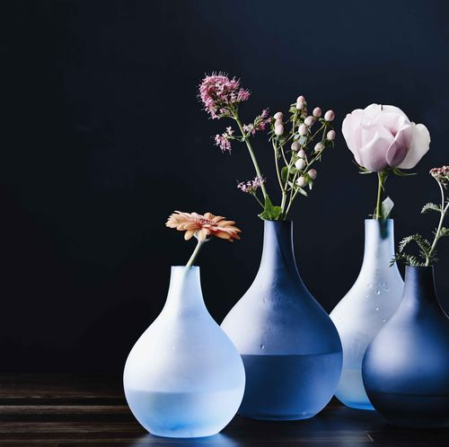 contemporary vase / glass
