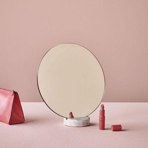 table mirror / contemporary / round / terrazzo