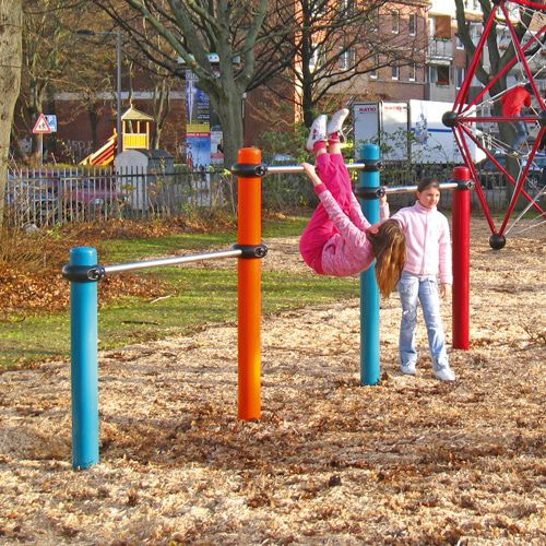 metal pull-up bar / for playgrounds / triple