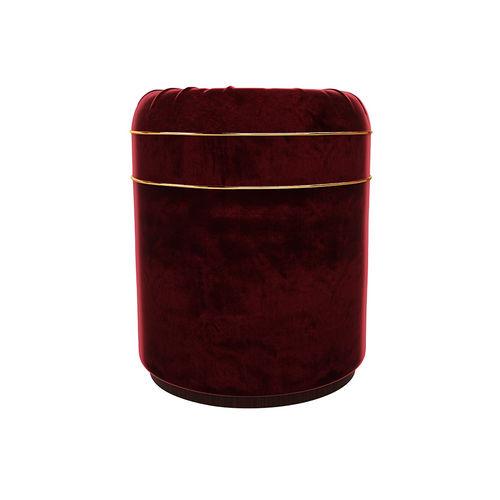contemporary stool / solid wood / wood veneer / velvet