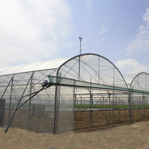 commercial greenhouse / plastic / steel frame