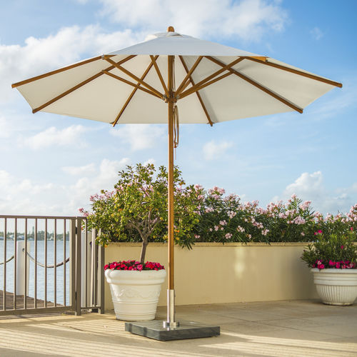 commercial patio umbrella / stainless steel / canvas / bamboo