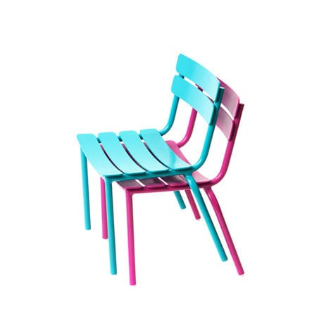 contemporary garden chair / stackable / child's / aluminum