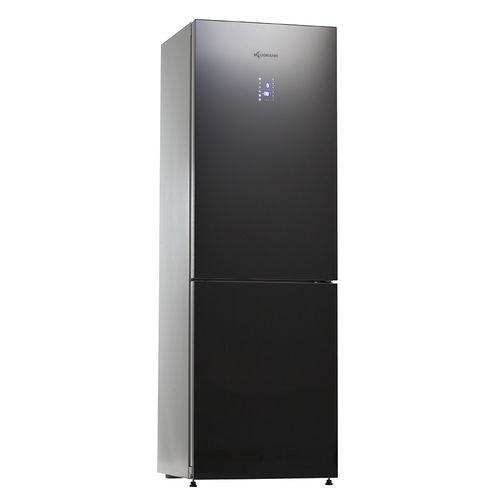 double door refrigerator-freezer / black / energy-efficient / EU Energy label