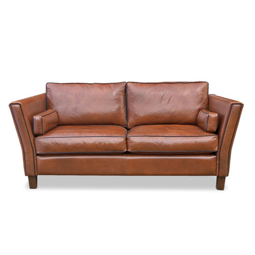 Art Deco sofa / leather / contract / for hotel