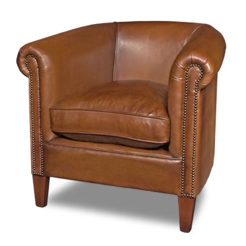 Traditional Armchair Rowley Bendic International Leather Wooden With Removable Cushion