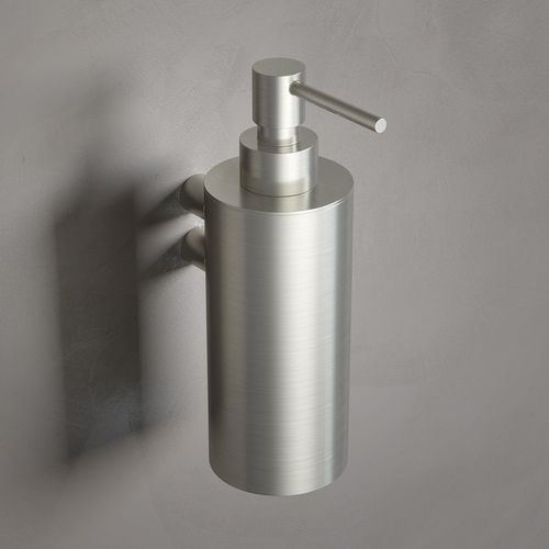 commercial soap dispenser / wall-mounted / steel / manual
