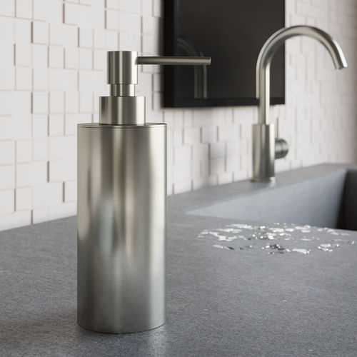 commercial soap dispenser / free-standing / steel / manual