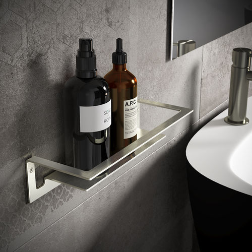 wall-mounted shelf / contemporary / steel / commercial