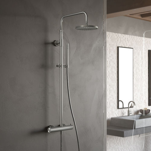 thermostatic shower column / commercial / with hand shower