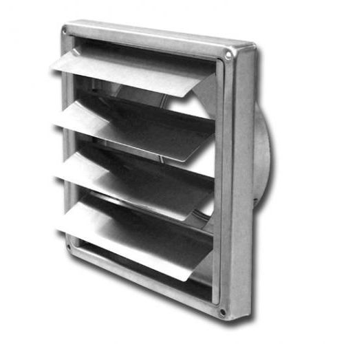 stainless steel ventilation grill / rectangular / for air supply and exhaust