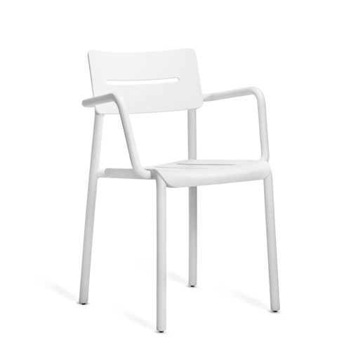 contemporary garden chair / with armrests / stackable / polypropylene